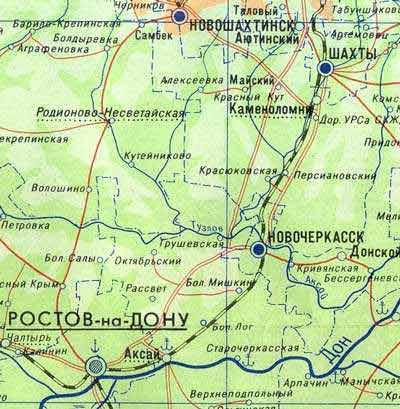 Карта железной дороги в